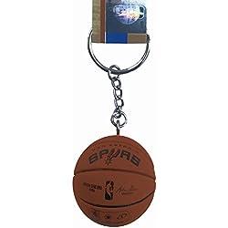 NBA llavero oficial de mini baloncesto Spalding, San Antonio Spurs
