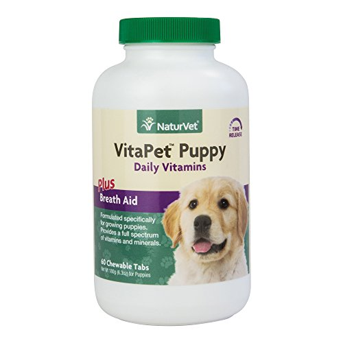 NaturVet TR VitaPet Puppy Dog Multi Vitamins Formulated Chewable Tablet 60ct