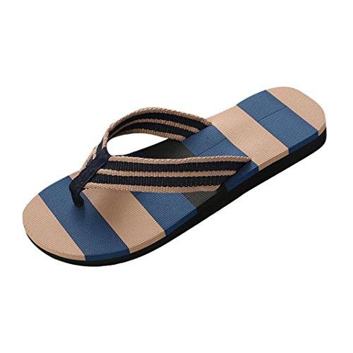 huge discount 11f55 d46e6 Pantofole - UOMOGO® Mens punta rotonda Striscia Pattern Beach scarpe  infradito (Asia 44,