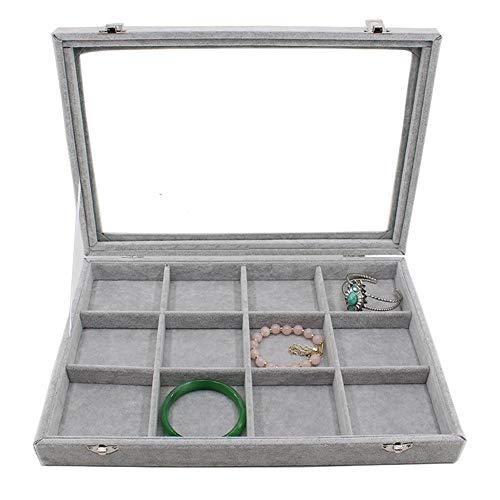 Mackur Ohrringe Box Schmuckkästchen Ohrringe Organizer Aufbewahrungsbox (Grau) -