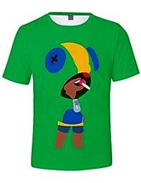 Casuale Bambini Maglietta Brawl Stars Maniche Corte Maglia con Stampa 3D Estate T-Shirt Tee Camicia Tops Camicetta Blusa Maglietta da Ragazzo Ragazze