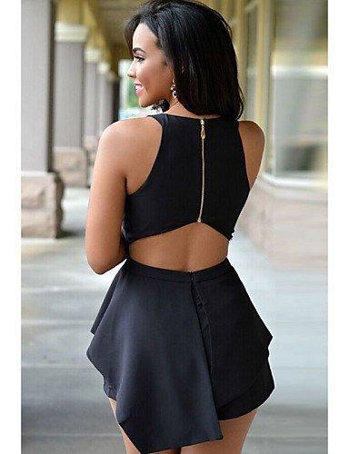 GSP-Combinaisons Aux femmes Sans Manches Sexy / Décontracté Spandex / Polyester Fin Elastique black-one-size