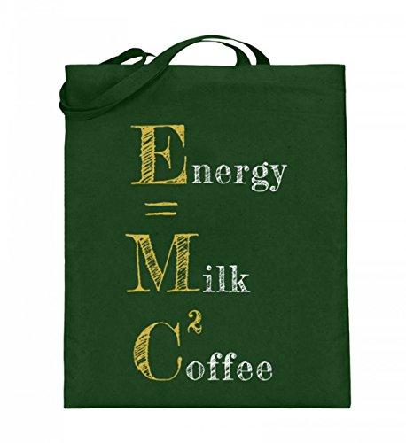 Hochwertiger Jutebeutel (mit langen Henkeln) - ENERGY=MILK COFFEE² Grün