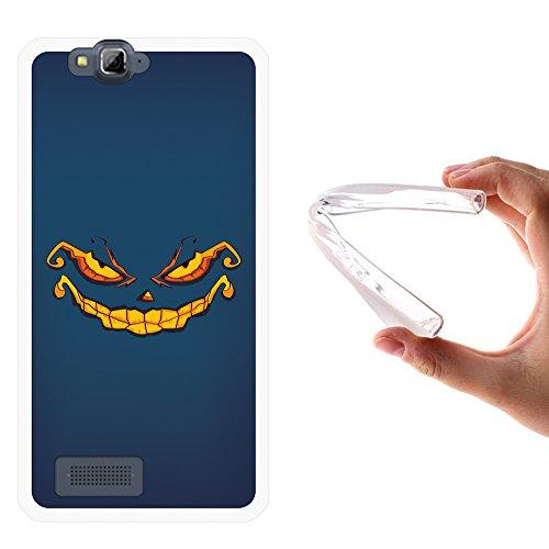 WoowCase MEO Smart A90 Hülle, Handyhülle Silikon für [ MEO Smart A90 ] Halloween Monster Handytasche Handy Cover Case Schutzhülle Flexible TPU - Transparent