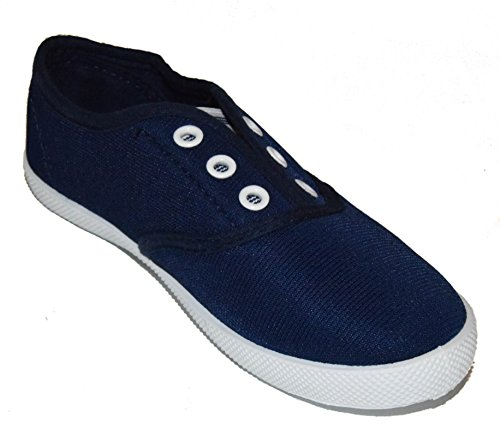 TMY 2922 Kinder Slipper/ Slip Ons Halbschuhe, Farbe dunkel Blau Gr.: 24-35 Navy