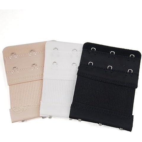Gleader 3pcs senoras Bra 2x3 Ganchos Extension Correa Extender flexible suave comodo