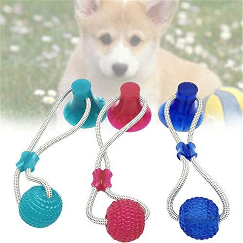 XIONGZF Mega Tug Dog Toy Dog Dog Palla di Gomma Auto-giocante Cane Giocattolo Molare interattivo Masticare i Denti Pulire TugToy Red