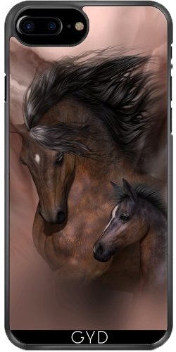 Leder Flip Case Tasche Hülle für Apple iPhone 4/4S - Mutter Und Kind by Illu-Pic.-A.T.Art Fester Kunststoff