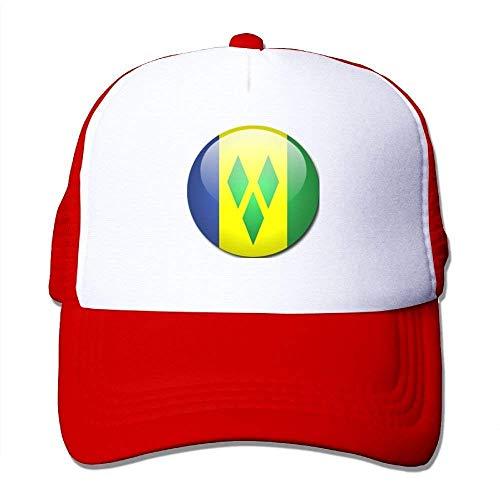 Osmykqe Geek-Unisexflagge St. Vincent die Grenadinen Baseballmütze Orange 03VV9349