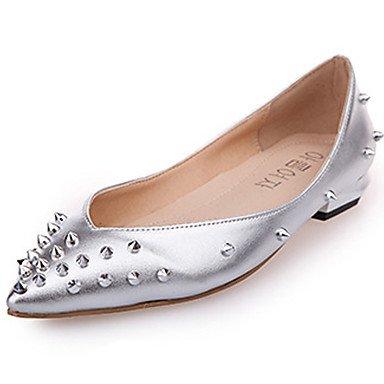 Confortevole ed elegante piatto scarpe donna Appartamenti Primavera Estate Autunno Comfort Ballerina pelle outdoor casual tacco piatto Bowknot Zipper Blue Silver a piedi Silver