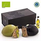 Troy Organics | %100 Olio Extravergine Di Oliva Biologico (Raccolto 2020) | Extra Virgin Organic Olive Oil | 2x 650 ml | Edizione Limitata, Pacchetto Regalo, Pressa a Freddo