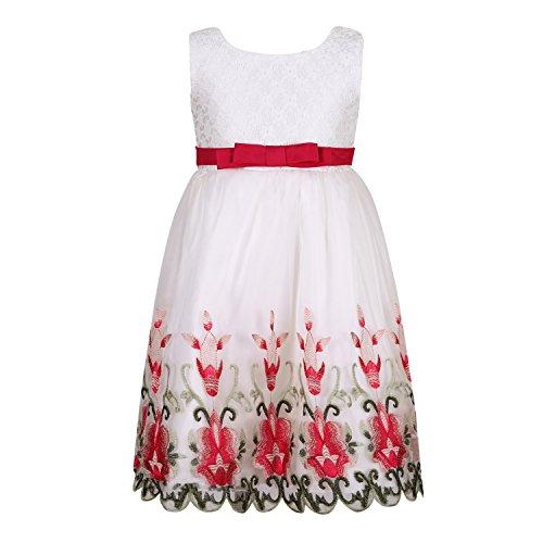 Richie Haus der Mädchen Prinzessin Party Kleid RH2717-B-6 (Kleid Haus)