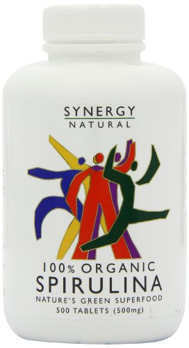 Synergy Organic Spirulina - Pack of 500 Tablets