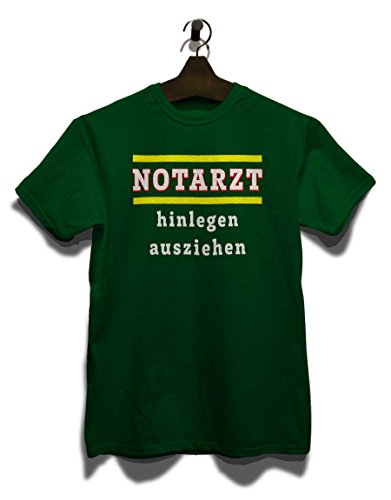 Notarzt Hinlegen Ausziehen T-Shirt Dunkel Grün