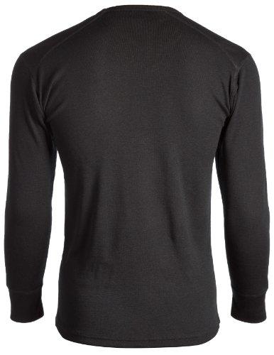 JBS 994 - Maglietta della salute da uomo, a maniche lunghe, girocollo, in lana Nero - nero