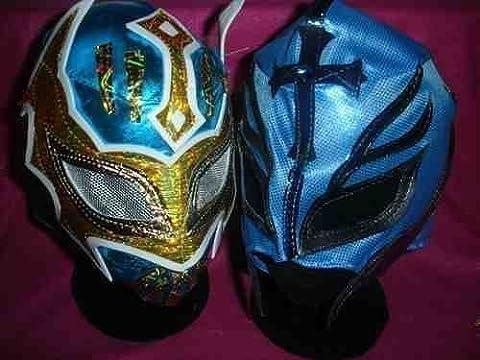 SIN CARA BLAU & farbe werden variieren REY MYSTERIO MASK WWE WRESTLING KOSTÜM VERKLEIDEN OUTFIT ANZUG REIßVERSCHLUSS KIND KINDER BRAND NEU MEXIKANISCH RAY