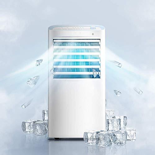 AA-small air conditioner XXKT Klimaanlagenlüfter, tragbare Verdunstungskühler Luftkühler, blattloser Dämpfer Klimaanlagenlüfter Kühler-weiß 30x38x76cm -
