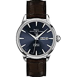 Reloj Ball Trainmaster Eternity, Ball RR1102, Azul, Correa de Cocodrilo