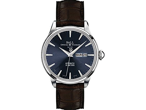 Ball Trainmaster Eternity orologio, Ball RR1102, blu, coccodrillo Band