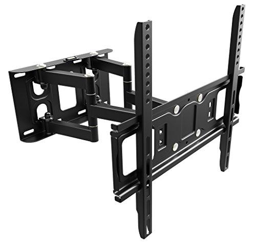 RICOO Wandhalterung TV Schwenkbar Neigbar S5244 Universal LCD Wandhalter Ausziehbar Fernseher Halterung Curved 4K OLED QLED Flachbildfernseher 80cm/32-165cm/65 Zoll/VESA 200x200 400x400 /Schwarz