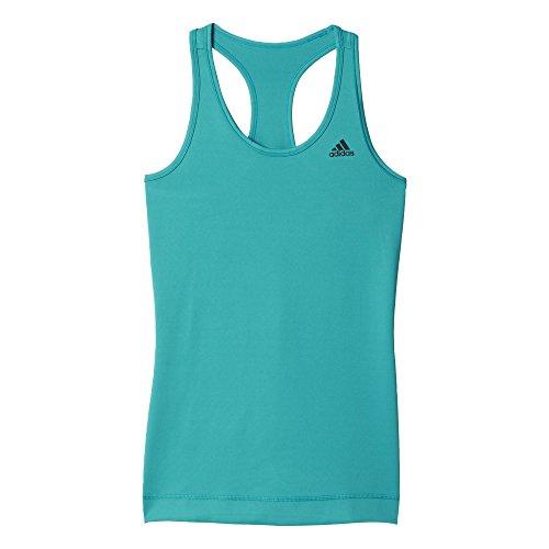 adidas Damen T-shirt Techfit Solid, Grün, L, 4056561476965 Preisvergleich