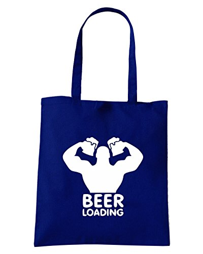 T-Shirtshock - Borsa Shopping BEER0182 Beer-loading-Magliette Blu Navy