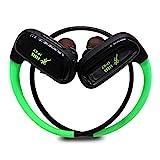 CYBORIS 16GB Memoria incorporada Reproductor de MP3 Auricular Bluetooth Natación Running Auricular IPX7 Auriculares estéreo inalámbricos deportivos impermeables, calidad de sonido HIFI con micrófono