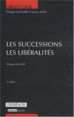Les successions, les libéralités