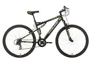 "Full Suspension Mountain Bike 29"" Slyder Black-Green 21 Gear KS Cycling"