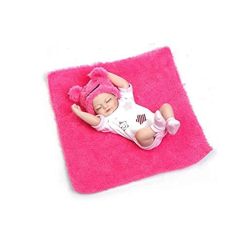 Reborn Baby Doll, Babypuppe Realistische Reborn Babypuppen Mädchen Weiche Silikon Vinyl Kleinkind Reborn Baby Doll Magnetisch Mund (28cm)-pink(Kann ins Wasser gehen) (Mädchen Doll Silicone Baby)