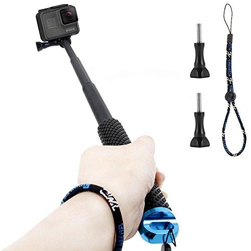 GoPro Selfie Perche, Homeet Etanche Monopode Extensible Bâton de Selfie Stick Télescopique en Aluminium pour GoPro Hero 5/4/3+/3/2/SESSION /SJCAM/SONY HDR FDR/Garmin Virb XE/Xiaomi Yi 4K/DBPOWER QUMOX/Akaso/Apeman etc. 【BLEU】
