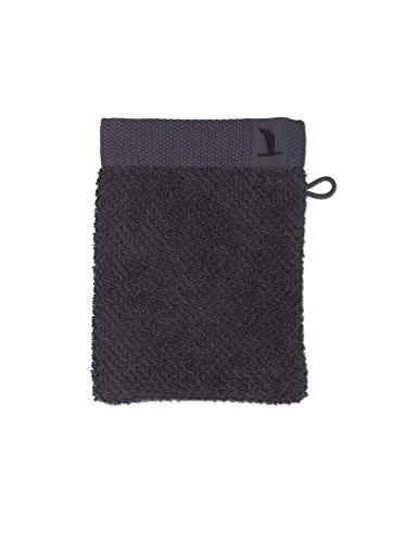 möve New Essential Waschhandschuh 15 x 20 cm aus 100% Baumwolle, graphite