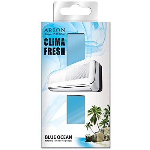 Areon Klima Fresh Lufterfrischer Ozean Blau Haus Klimaanlage Original Parfum Haus Wohnzimmer Zimmer Büro Shop Langlebig Moderne Geruch (Blue Ocean Pack 1)