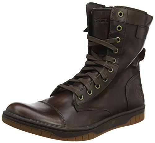 Diesel Herren Tatradium Basket Butch Zippy Hohe Sneaker, Braun (Coffee Bean), 43 EU (Diesel Schuhe Stiefel)