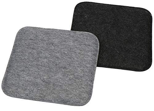 com-four® 2X Juego de Cojines de Asiento tapizados, Cojines de Silla para...