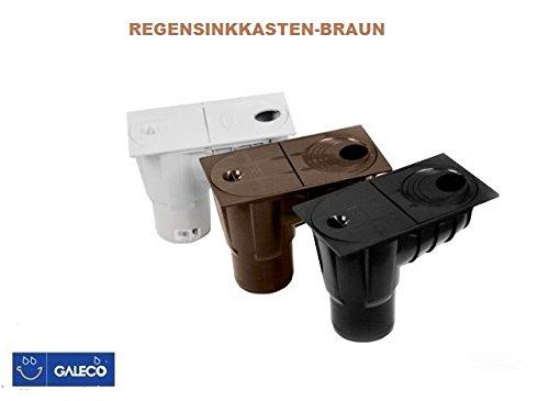 Regensinkkasten -Regenrohrablauf , Dachrinnenablauf - Regenablauf-Farbe:braun Ø 50-110-GALECO
