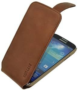 Suncase Premium Flipstyle Ledertasche für das Samsung Galaxy S4 i9505 antik-rost