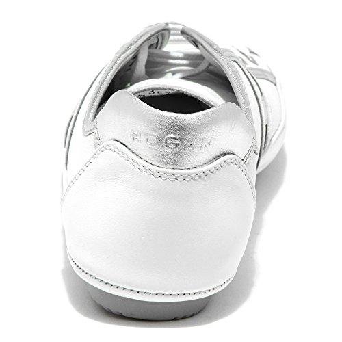 9613G sneakers donna HOGAN progetto wrap allacciato scarpe shoes women bianca