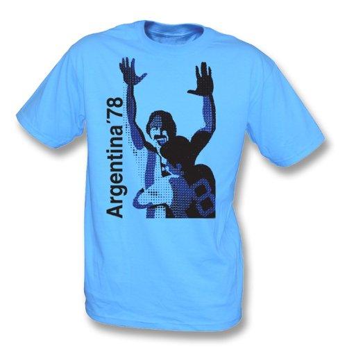 T-Shirt Argentiniens 78 Himmel-Blau