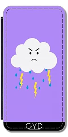 Flip Cover Case for Huawei P8 - Grumpy cloud lightnings