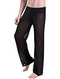 YiZYiF Hommes Pantalon Yoga Transparent Super Confort sous-vêtement Pyjamas 31de883873e
