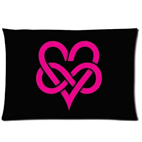 Flannel Infinity Love Custom Zippered Pillowcase 20x30 (one side) Cushion Cover Case SUNSHINEM-584