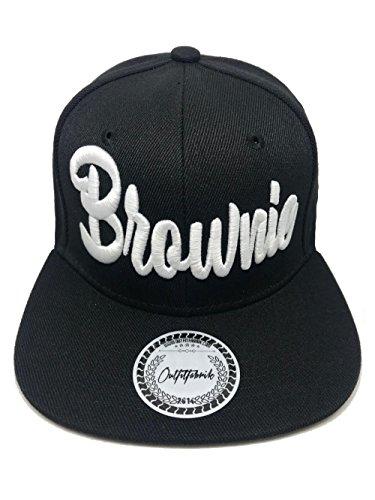 Outfitfabrik &Hearts Hearts; Snapback Cap Stickerei Brownie in schwarz