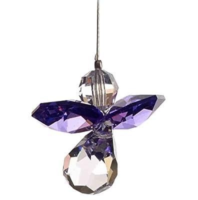 Swarovski Hanging Crystal Guardian Angel Birthstone Suncatcher FEBRUARY - AMETHYST