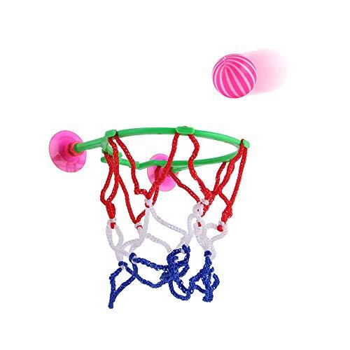 Vovotrade Kinder Erwachsene Tragbare Saugnapf Mini Spielzeug Basketballkorb Net Ball Pumpe Spielen Set (Mehrfarbig)