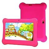 Love Life 7-Zoll-Kindertablett, WiFi-Version von Android-Tablet 8g Speicherkarikatur Schutzhülle, Musikwiedergabe, Videowiedergabe, E-Reader, Unterhaltungsspiele,Pink