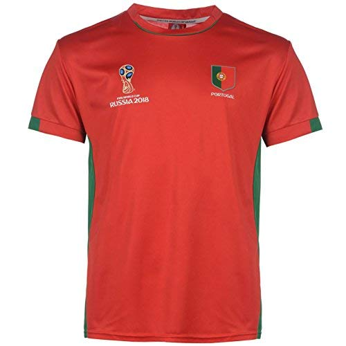 FIFA World Cup 2018 Portugal T-Shirt Mens Red Football Soccer Tee Shirt  XXLarge 075bd1436