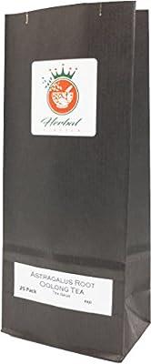 Racine d'astragale organique et le thé Oolong sachets de tisane - paquet de 25