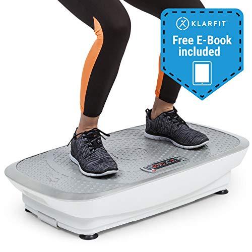 Klarfit Vibe 3DX Vibrationsplatte • Trainingsgerät • Fitnessgerät • 2 x 250 W • 3 Modi • 3DX DualMotor • Trainingscomputer • einstellbar • max. 120 kg • inkl. Fernbedienung und Fitnessband • weiß