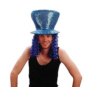 Reír Y Confeti - Disfraces de accesorios - - Fiedis048 Disco azul pelo del sombrero